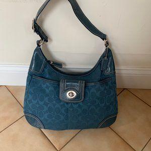 Blue Coach bag! Patterned Coach!!